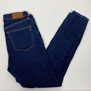 Madewell 28 High Riser Skinny Jeans Dark Davis